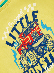 Yellow Little Monster Crew Neck Sweatshirt (9 months - 6 years)