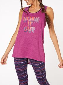 Purple Space Dye Slogan Vest