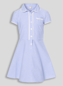 Online Exclusive Blue Plus Fit Gingham Dress (3-12 years)