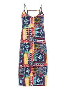 Strappy Patterned Dress