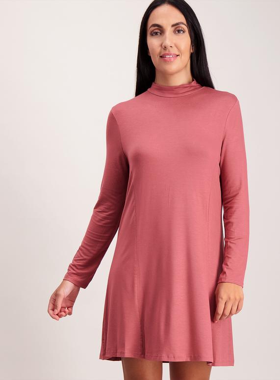 Pale Pink Jersey Swing Dress