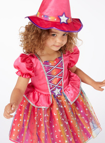 Pink Halloween Witch with Hat Outfit (6 months-4 years)