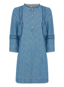 Denim Frill Tunic
