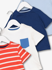 Multicoloured Cotton T-Shirts 4 Pack (9 Months - 6 Years)