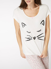 Feline Tired Pyjama Set
