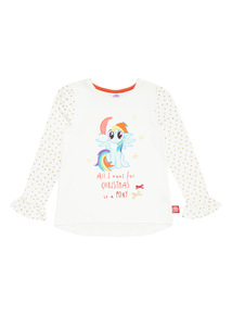 White My Little Pony Christmas Tee (9 months - 6 years)