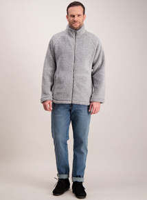 Grey Zip Through Fleece