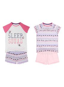 Multicoloured Sleep Squad Pyjama Set 2 Pack (18 months - 12 years)