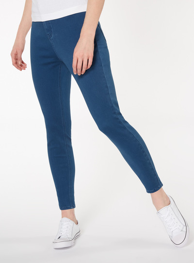 Mid Denim High Waist Skinny Jeans