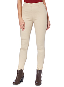 Stone Colour Jeggings