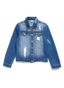 Denim Distressed Jacket (3-12 years)