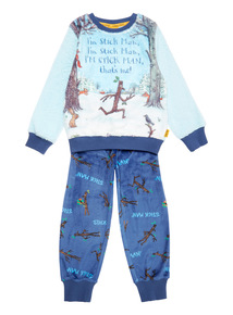 Blue Christmas Gruffalo Stickman Fleece Pyjama Set (1-6 years)