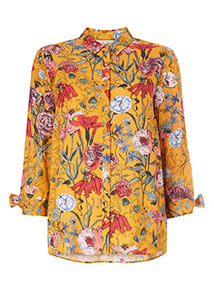 Multicoloured Floral Print Oversized Shirt
