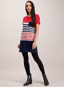 Multi-coloured Nautical Block Striped Tunic