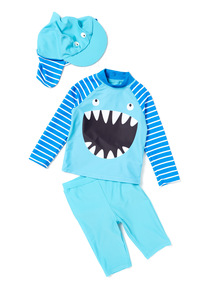Blue Shark Sunsafe Set (0-36 months)
