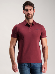 Claret Red One Pocket Polo Top