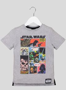 Grey Star Wars T-Shirt (3-14 Years)
