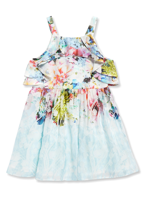 Multicoloured Floral Occasion Dress (3-14 years)