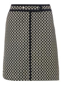 Mono Textured A-Line Skirt