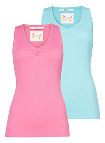 2 Pack Multicoloured Vests