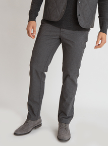Premium Grey Textured Slim Fit Trouser
