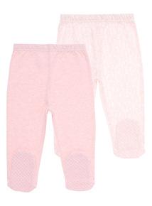 Girls Pink Floral Legging (0-24 months) 2 Pack