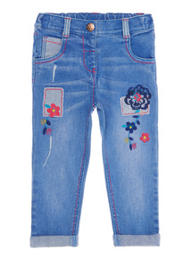 Blue Flower Applique Jeans (9 months - 6 years)