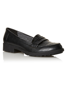 Black Cleated Loafers