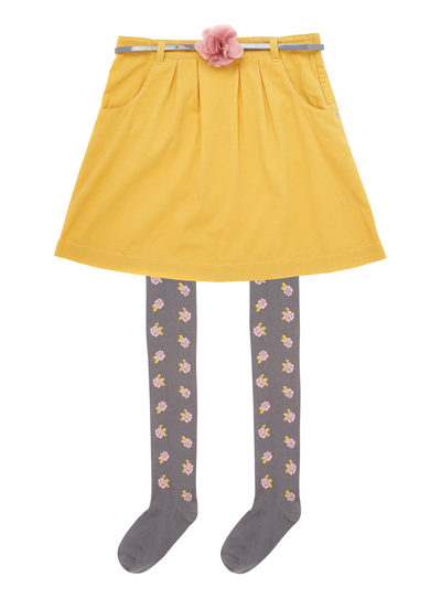d505166886ef6f Kids Girls Mustard Cord Skirt And Tights (3 - 12 years) | Tu clothing