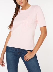 Online Exclusive Floral Embroidered Top