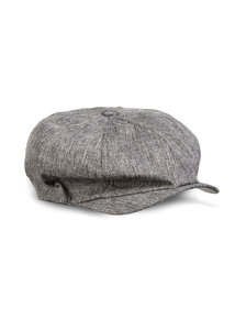 Grey Chambray Baker Boy Hat