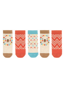 Sunset Safari Socks 5 Pack (1 - 24 months)