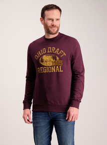 Burgundy 'Ohio' Logo Sweatshirt