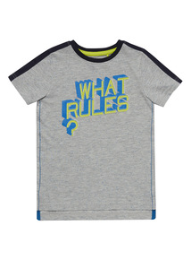 Multicoloured What Rules Tee (3 - 12 years)