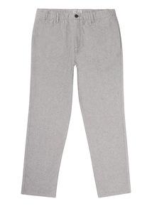Grey Straight Leg Flannel Jogger Chino