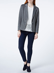 Grey Ponte Marl Jacket