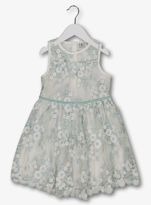 White Lace Embroidered Occasion Dress (3-14 years)