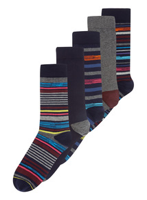 Random Stripe Socks 5 Pack