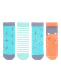 4 Pack Crab Socks (1-24 months)