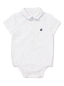 White Woven Bodysuit (0-24 months)