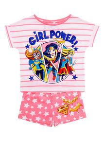 Pink DC Superhero Girls PJ Set (2 - 12 years)