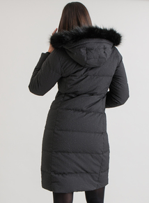 Online Exclusive Premium Black Faux Fur Hooded Coat