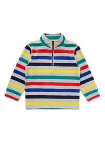 Multicoloured Striped Long Sleeve Fleece (9 months- 6 years)