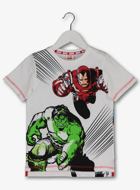 24a5e4870a0 License   Character Shop Marvel Avengers White T-Shirt (3-12 years ...