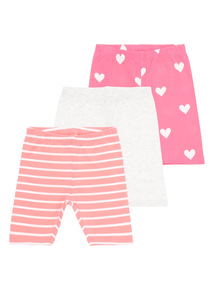 Girls Multicoloured Cycle Shorts 3-Pack (9 months-6 years)