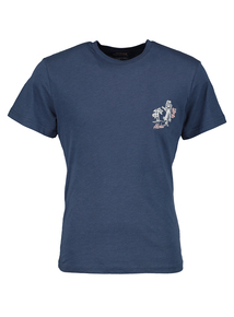 Navy Hula Girl Logo Short Sleeve T-Shirt