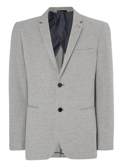 Grey Ponte Jersey Jacket
