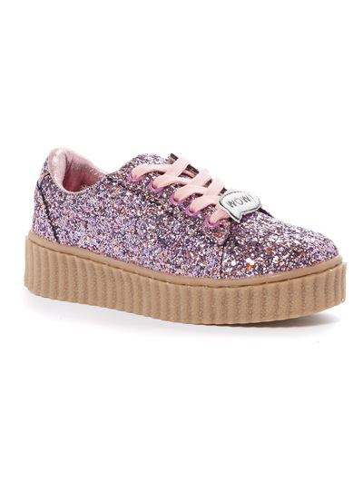 Pink Glitter Creeper Shoes