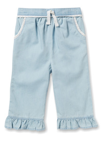 Denim Frill Culottes (9 months-6 years)