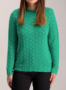 PETITE Online Exclusive Green Knitted Jumper